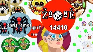 ZONE'S PARTY VS SAVAGE CLAN! (Agar.io Mobile Gameplay)
