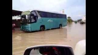 preview picture of video 'امطار غزيرة على  مدينة الشمال - قطر اليوم 19-11-2013'