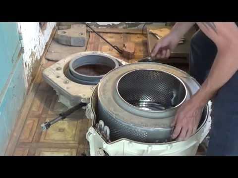 ремонт стиральной машины Атлант замена подшипников часть№1