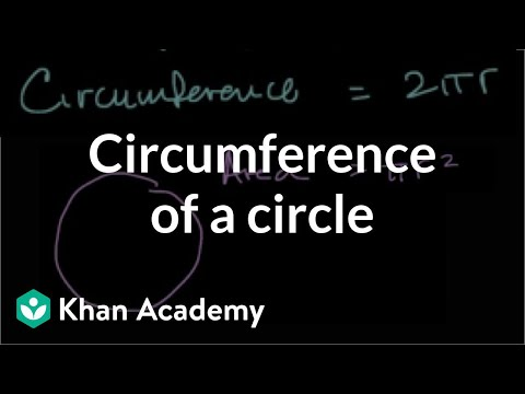Finding circumference of a circle when given the area (video
