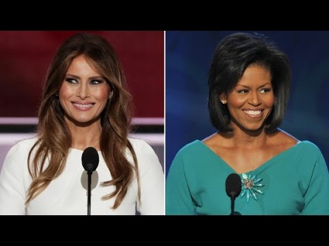 Melania Trump and Michelle Obama side-by-side comparison