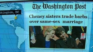Headlines at 8:30: Cheney daughters wage war of words over same-sex marriage