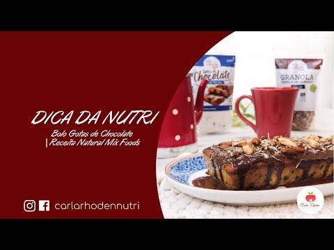Bolo Gotas de Chocolate | Natural Mix Foods | Nutricionista Carla Rhoden