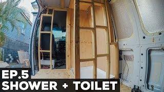S1E5 Sprinter Van Conversion   Shower + Toilet
