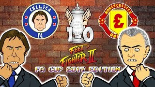 Chelsea 1 0 Man Utd Fa Cup Feetfighter 2 Herrera Red Card Rojo Stamp Kante Goal Highlights