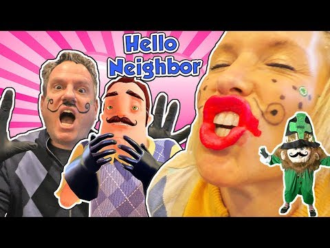 Hello Neighbor In Real Life Mart & Martina Kiss on St. Patrick's Day Hilarious Skit! | DavidsTV