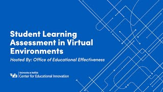 Student Learning Assessment in Virtual Environments: Strategies And Methods