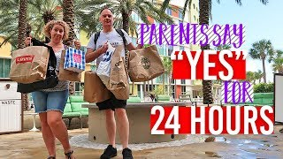 PARENTS SAY YES FOR 24 HOURS! KIDS IN CHARGE ON HOLIDAY | 24 HOUR CHALLENGE | FAMILY CHANNEL FLORIDA