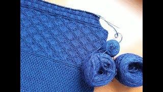 Пуловер (свитер) спицами для мужчин. Часть 2. Проймы.