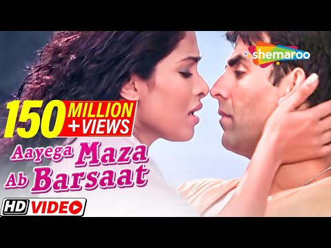 Download Aayega Maza Ab Barsaat Ka | Andaaz Songs | Akshay Kumar | Priyanka Chopra | Alka Yagnik| Gold songs Mp4 HD Video and MP3