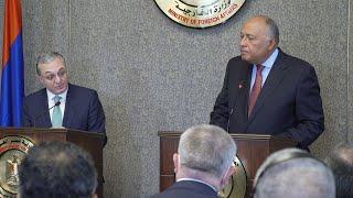 Выступление Министра иностранных дел Армении Зограба Мнацаканяна и ответ на вопрос журналиста на совместной пресс-конференции с Министром иностранных дел Египта Самехом Шукри