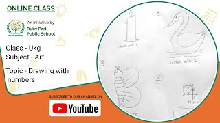 Drawing with numbers | Art class for UKG | Ruby Park Public School Thumbnail