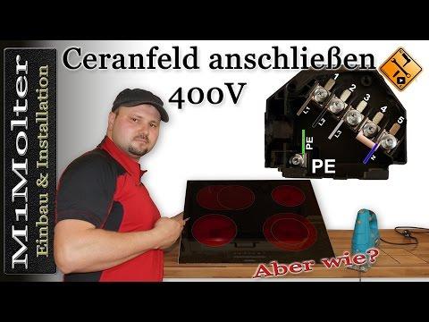 Ceranfeld anschließen 400 Volt / Induktionskochfeld 400V anschließenvon M1Molter