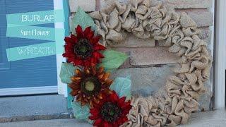 Watch Me!! Make A Autumn Burlap Wreath
