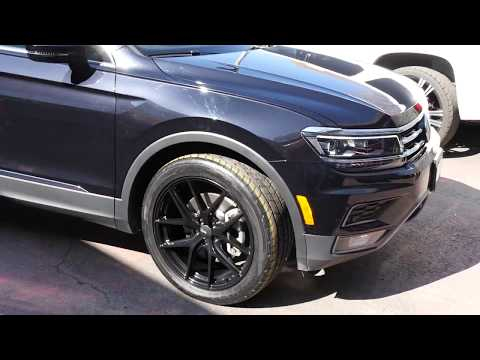 2018 VOLKSWAGEN TIGUAN WITH 20 INCH BLACK RIMS & TIRES