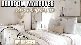 DIY MASTER BEDROOM MAKEOVER ON A BUDGET | DECORATING IDEAS | DEEP CLEANING MOTIVATION | BEDROOM DIY