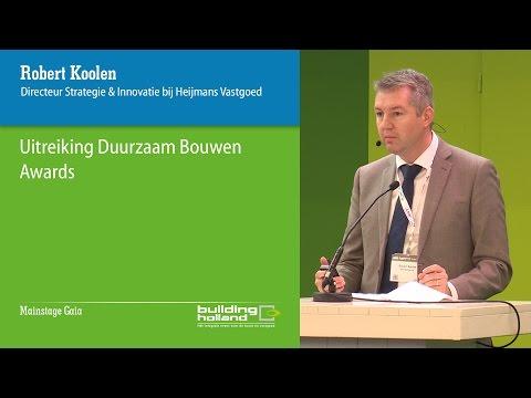 Uitreiking Duurzaam Bouwen Awards