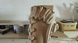 Видео - Мебельная резная ножка l-Penelope