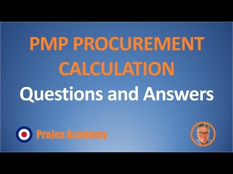 PMP Procurement calculation questions (2019) #PMP #PMBOK ...