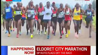 Deputy President William Ruto flags off Eldoret City Marathon
