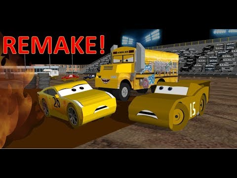 Cars 3 Miss Fritter Demolition Derby Scene REMAKE!