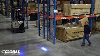 Global Industrial Forklift Blue LED Safety Warning Light 988717