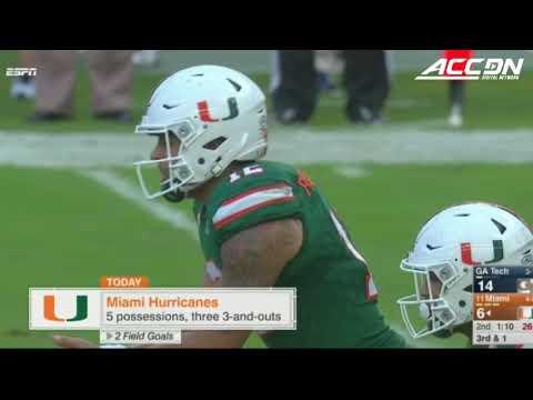 Georgia Tech vs. Miami Condensed College Football Game (2017)