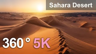 Sahara Desert, Algeria. Aerial 360 video in 5K