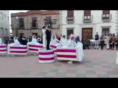 Disfraz tarta nupcial Carnaval de Esparragalejo 2017
