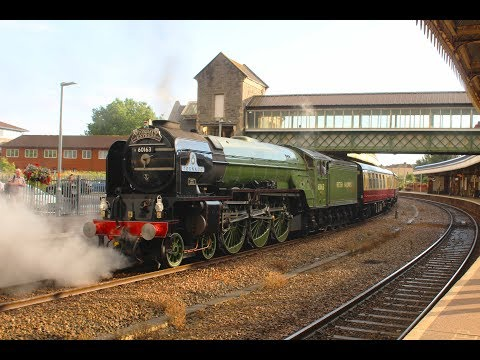 60163 'Tornado' working 'The Torbay Express' in the pouring …