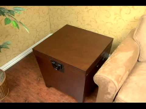 Video for Espresso Pyramid Trunk End Table