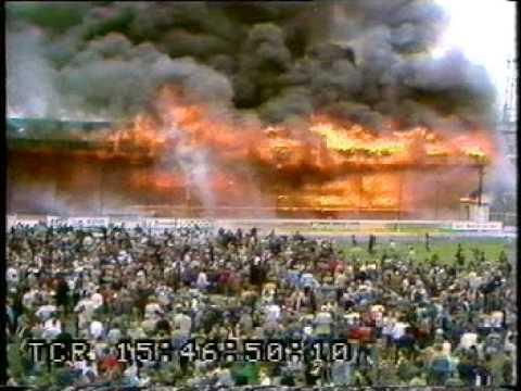 足球場大火