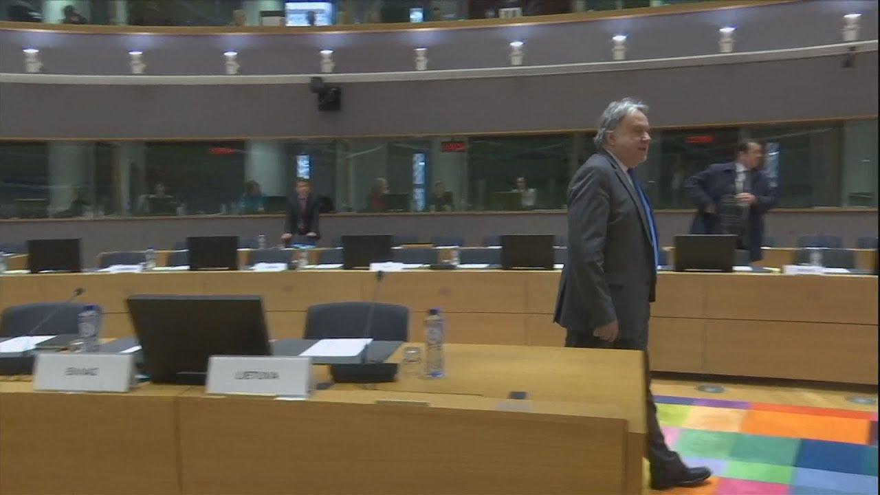 Ο αναπληρωτής υπουργός Εξωτερικών, Γιώργος Κατρούγκαλος, στις Βρυξέλλες