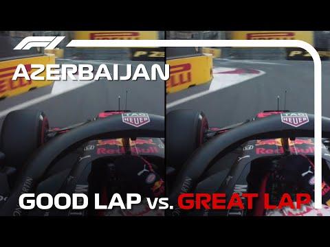 F1 アゼルバイジャンGP 市街地コースで行われるあフェルバイジャンのラップ比較動画