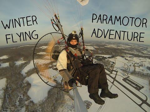hqdefault - Un paseo con paramotor sobre la nieve