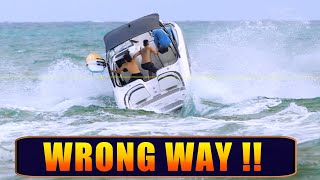 NEVER DO THIS | SMALL BOATS IN ROUGH WAVES | HAULOVER INLET | BOAT ZONE 8K