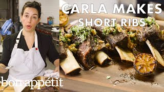 Carla Makes Slow Roast Short Ribs to Pull-Apart Perfection | From the Test Kitchen | Bon Appétit