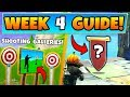 Fortnite WEEK 4 CHALLENGES GUIDE! - SHOOTING GALLERIES Locations, Banner (Battle Royale Season 6)