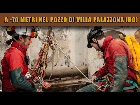Esplorazione del pozzo di Villa Palazzona a Bologna -70 metri