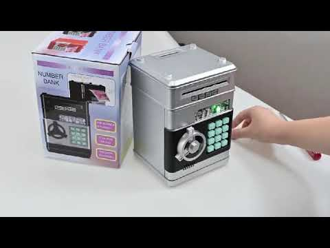 Копилка для купюр SafeBox серебристый (S-18625) Video #1
