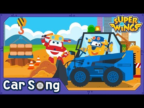Super Heavy Vehicles | English Song | SuperWings Songs for Children