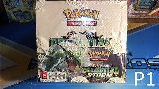 Opening a Pokemon Celestial Storm Booster Box