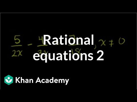 Equation with two rational expressions (old example 2