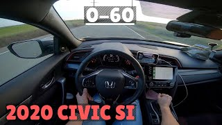 2020 Civic Si 0-60 | FIRST TIME Launching A Car