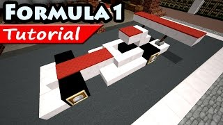 How to make Ferrari Formula 1 car / Minecraft vehicle tutorial /