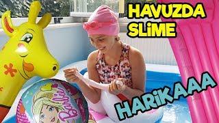 SLİME HAVUZU | Havuzda Slime Yaptık ve Çok Eğlendik :)) | Fenomen Tv