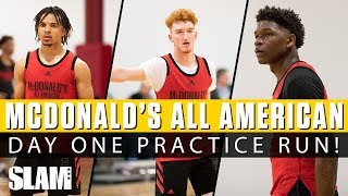 Nico Mannion & Cole Anthony SHOW OUT in First McDonald's All American Practice‼ 🍔