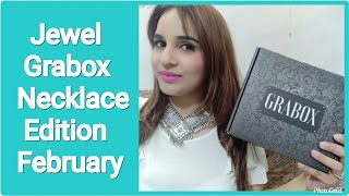 Jewel Grabox Necklace Edition February 2020 | Most Affordable Subscription| Unboxing & Try on Review