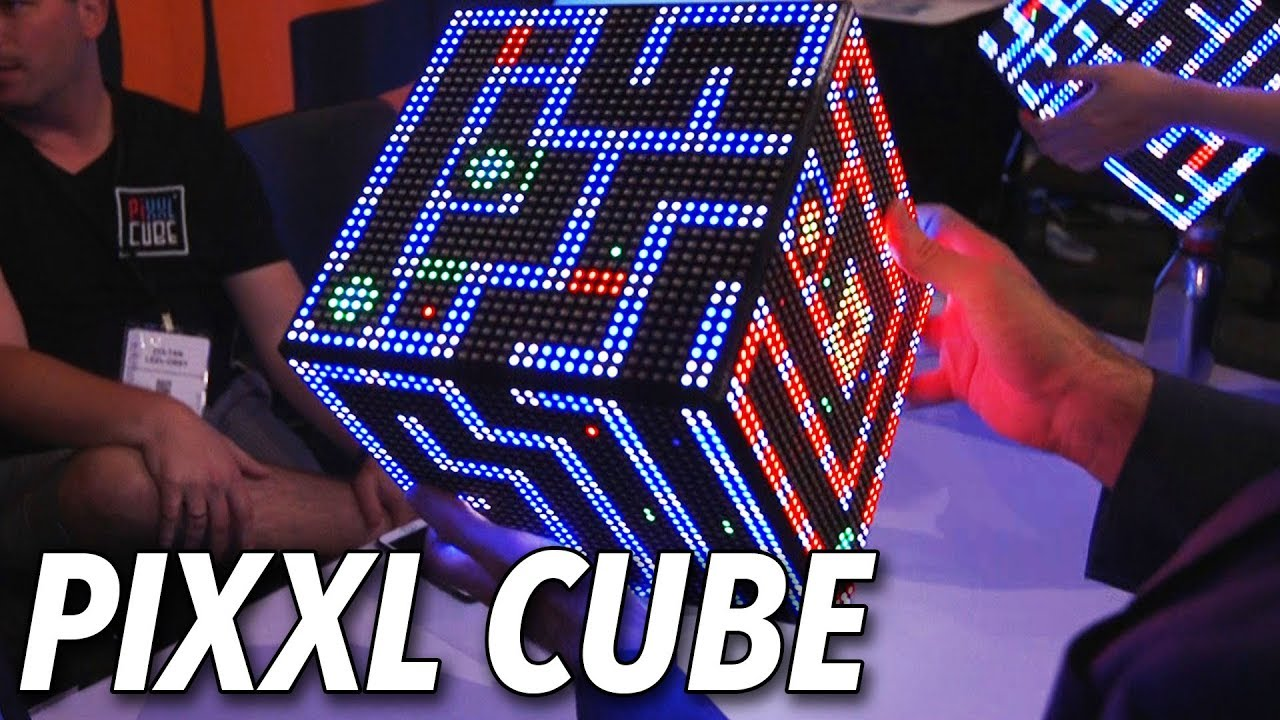A Six-Sided LED Screen You Can Play Games On