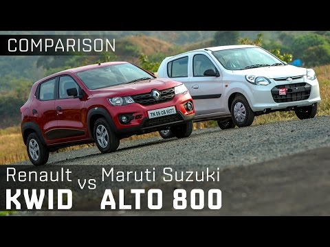 Maruti Suzuki Alto800 vs Renault Kwid :: Entry-level Hatchback Comparison :: ZigWheels